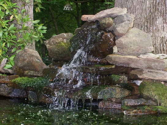 Build a waterfall for Build your own waterfall pond