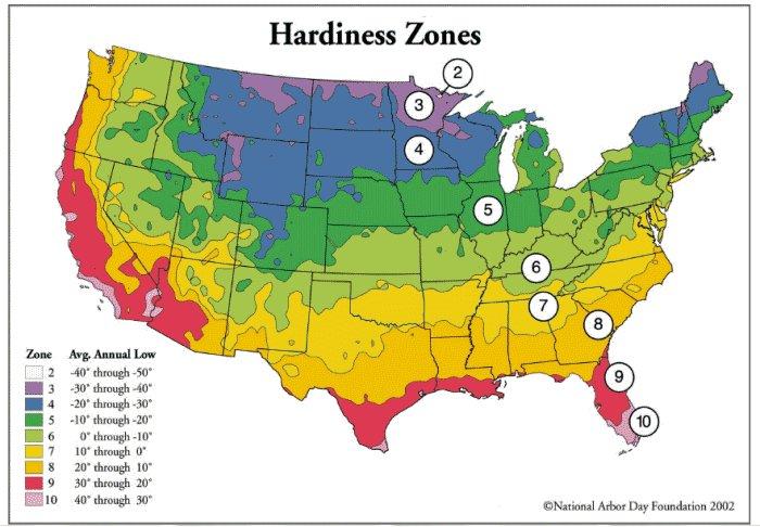 Hardiness Zone Map - Japan hardiness zone map